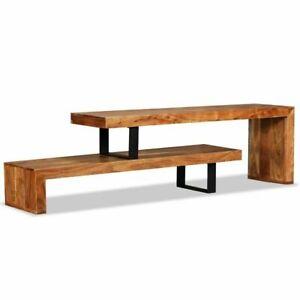 Vintage-Industrial-TV-Stand-Unit-Metal-Legs-Rustic-Side-Cabinet-Wooden-Sideboard