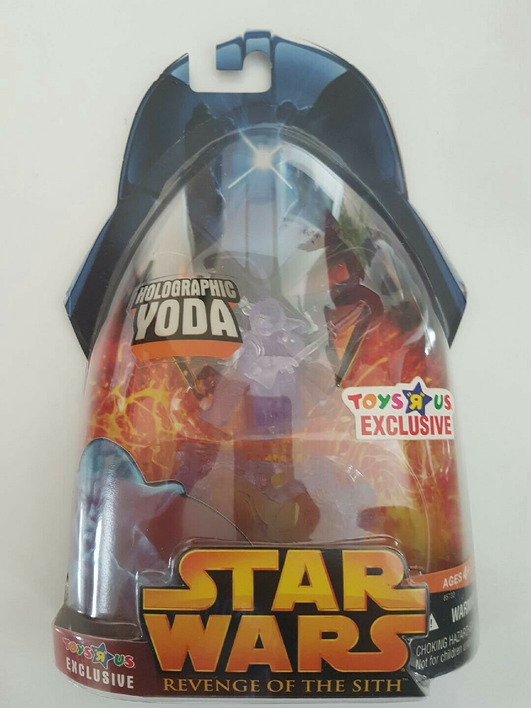 StarWars figurine : STAR WARS FIGURINE HOLOGRAPHIC YODA EXCLUSIVE SÉRIE REVENGE OF THE SITH NEUF