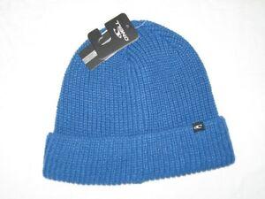 BNWT-O-039-Neill-Cotele-Tricot-Bonnet-Tuba-Bleu
