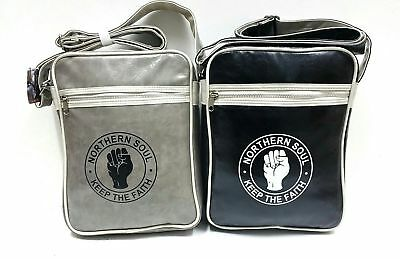 Northern Soul Messenger Bag Black With White Trim Crossbody S Satchel