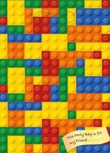 BRICKS-BIRTHDAY-PARTY-GOODIE-BAGS-PLASTIC-LOOT-CELLO-BAG-NOT-LEGO-BLOCKS