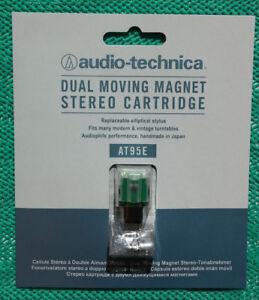 Original-Audio-Technica-AT-95-E-Made-in-Japan-eliptisch-MM-Tonabnehmer-Neu-OVP