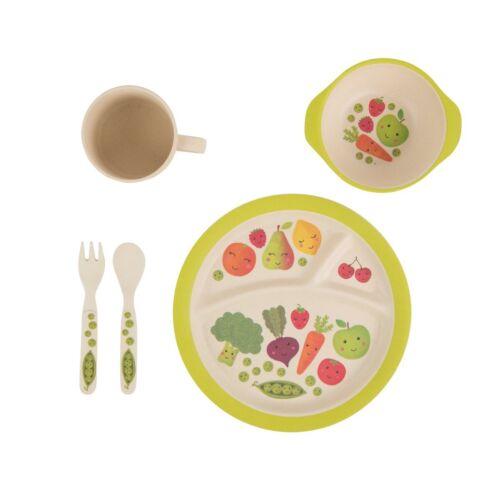 Heureux fruits et légumes Bambou Repas Set by Sass and Belle