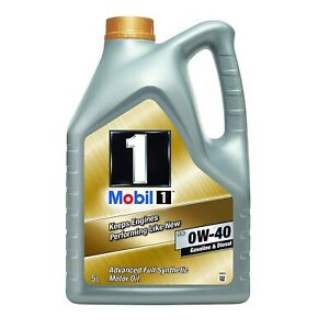 mobil 1 fs 0w 40 fully synthetic engine oil 5l bmw vw porsche vauxhall ebay. Black Bedroom Furniture Sets. Home Design Ideas
