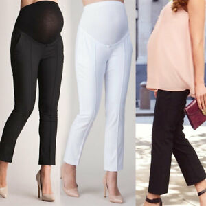Maternity-Women-Elastic-Belly-Protect-Pregnant-Leggings-Pants-Trousers-Solid-Hot