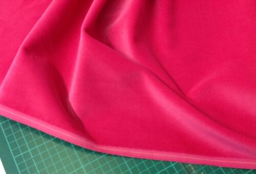 112 cms CERISE Cotton Velvet Velveteen for Dressmaking 240 gsm