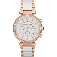 Michael Kors MK5774 Rose Gold Ceramic Parker Chronograph Watch