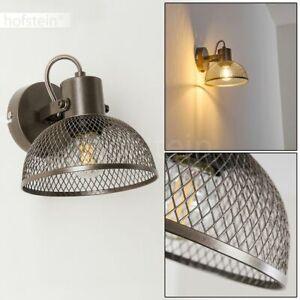 Retro Wand Lampen Schalter Flur Dielen Strahler grau Wohn Schlaf Zimmer Leuchten