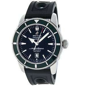 Breitling-SuperOcean-Heritage-A17320-Stainless-Steel-Automatic-Men-039-s-Watch