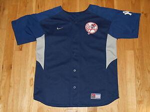 Vintage Nike DEREK JETER NEW YORK YANKEES Youth MLB Batting Practice ... 34f39144e0b