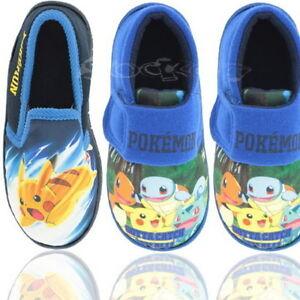 11c6747bec938 Boys Official Pokemon Go Slip On Slippers Shoe Sizes 6-2 Kids New ...