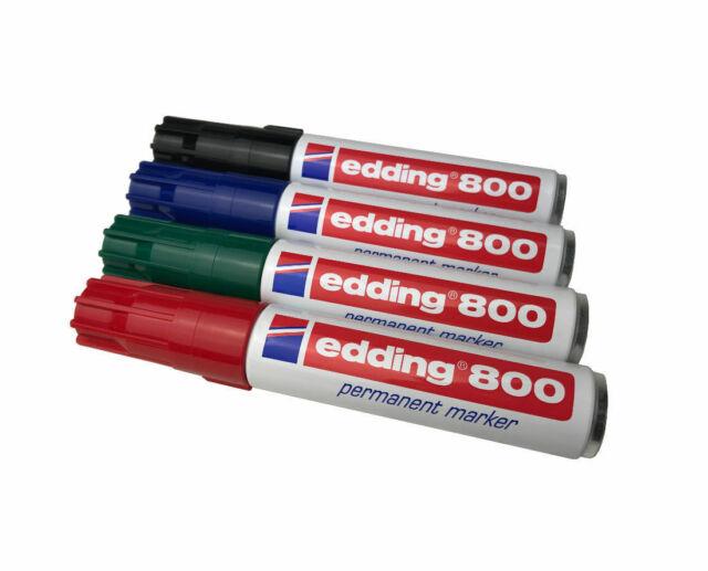 Edding 800-001 schwarz Permanentmarker mit 4-12 mm Keilspitze