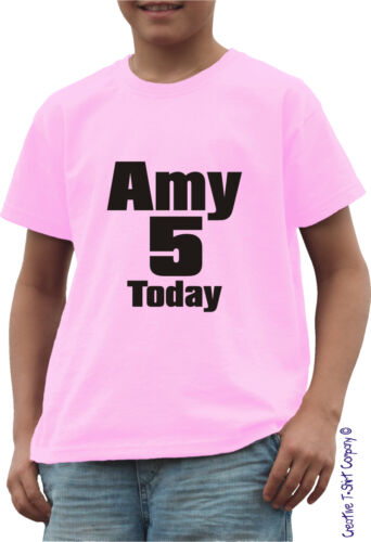 JUST ADD NAME AND NUMBER PERSONALISED CHILDS BIRTHDAY PARTY T-SHIRT AGES 1-13