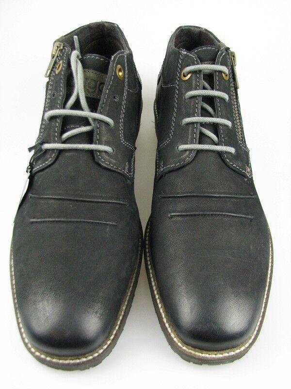 Hommes Chaussure f9208-pr1g noir cuir en taille 43