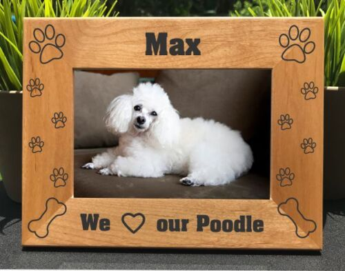 Personalized Engraved //// Poodle //// Picture Frame