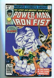 Powerman-and-Iron-fist-57-VF-NM-Living-Monolith-Marvel-Comics-CBX38