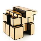 AU Shengshou Golden 3X3 Speed Mirror Cube Magic Puzzle Black Best Sale Toy
