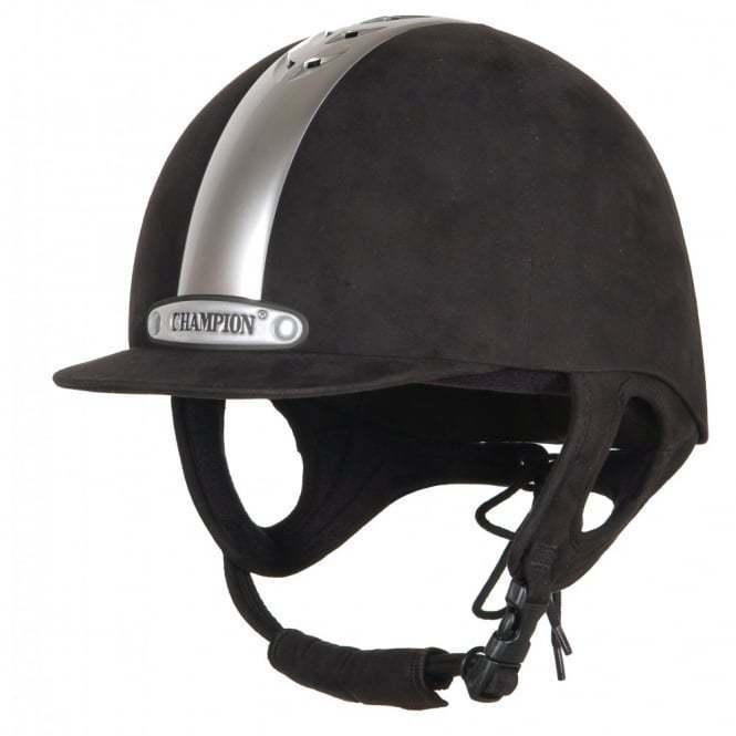 Champion Ventair Equitación Sombrero Negro Plata 63cm (7 3 4)