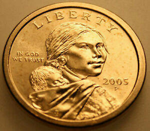 PROMPT AND FREE SHIPPING 2005 D Sacagawea  Native American Dollar