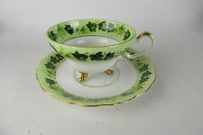 Vintage Norcrest 6/861 Gold Tone Accents Matching Footed Tea Cup & Saucer Set