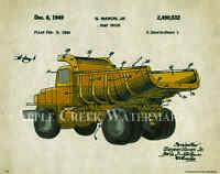 John Deere Dump Truck Patent Poster Art Print Vintage Toys Chuck Freitag Pat337