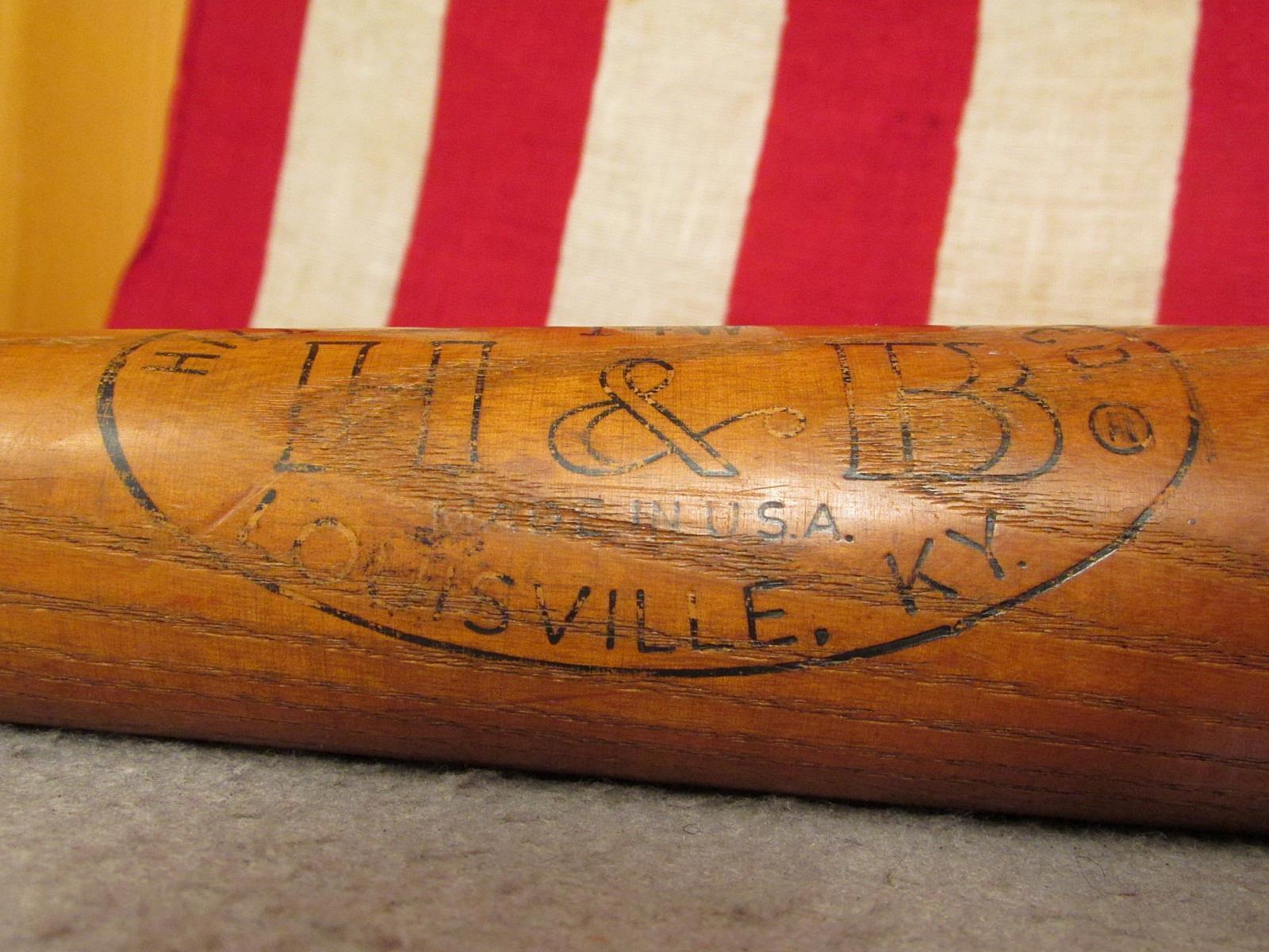 Vintage Hillerich & Bradsby Holz Baseball Baseball Baseball Schläger Sicher Hit Ed Mathews Modell 4c17db