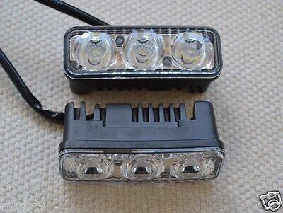 2x SUPER BRIGHT DAY RUNNING LED SMD ALLOY LIGHTS 12V CAR VAN TRUCK BUS BIKE BOAT