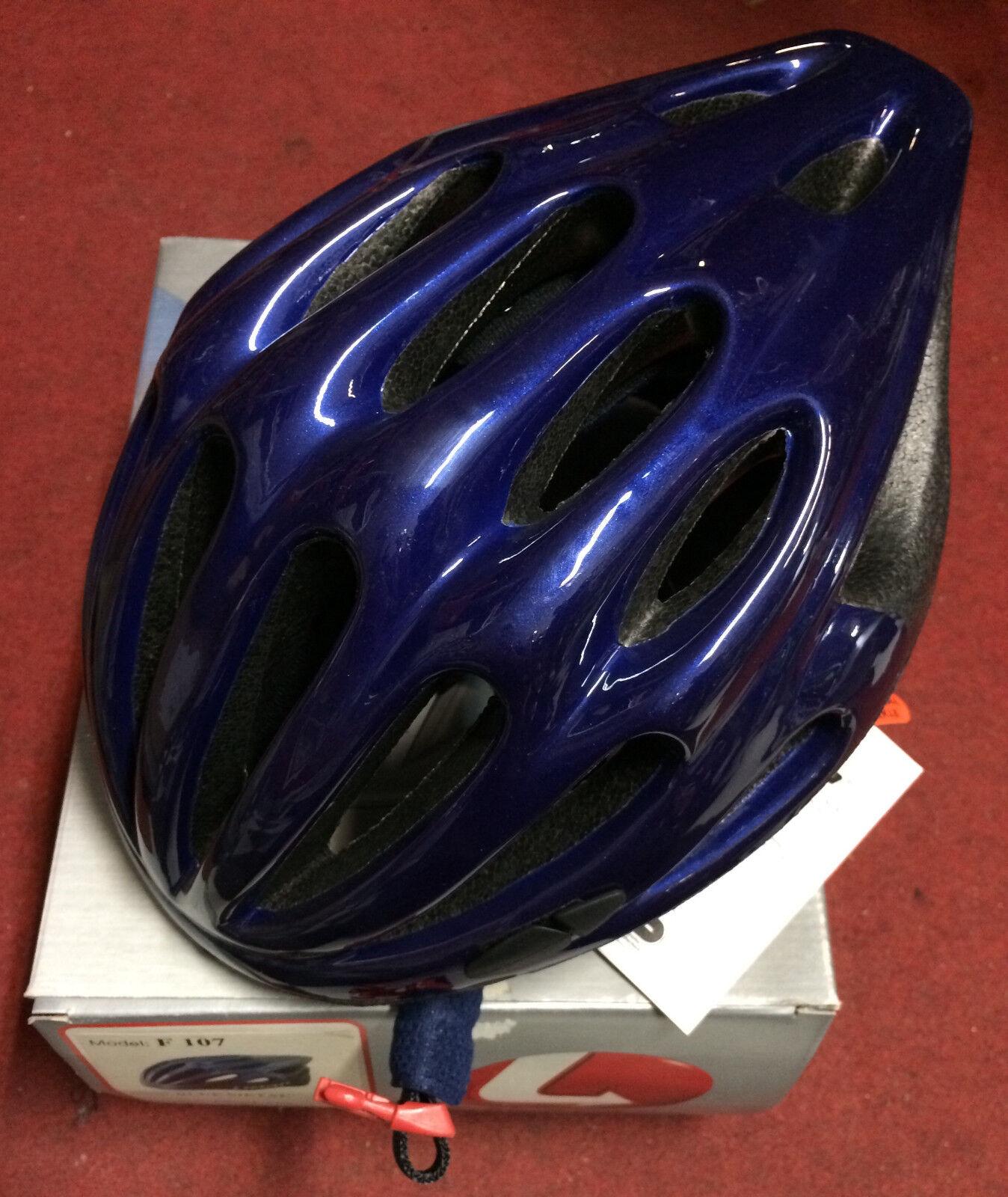 Casco bici corsa Limar F107 road road road bike helmet M 54-57 XL 58-61 cm blu metal 4fdb1f
