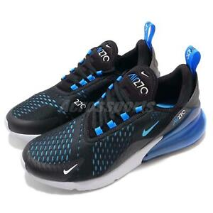 a474b90957 Nike Air Max 270 Liquid Metal Black Blue Fury Men Running Shoes ...