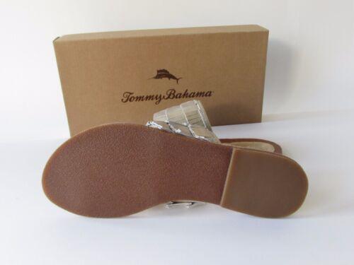 Tommy Bahama Womens Gold Fringe Toe Loop Sandals size 7 FREE SHIPPING