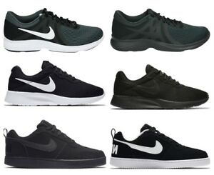 Details zu Nike Mens TANJUN COURT BOROUGH LOW Trainers Running Gym Shoes Black