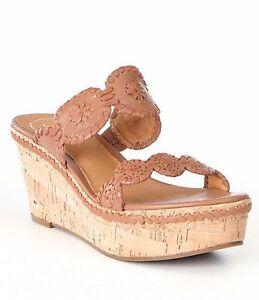 Jack-Rogers-Leigh-Leather-Cork-Platform-Wedge-Sandals-Cognac-SIZE-5-M-sh