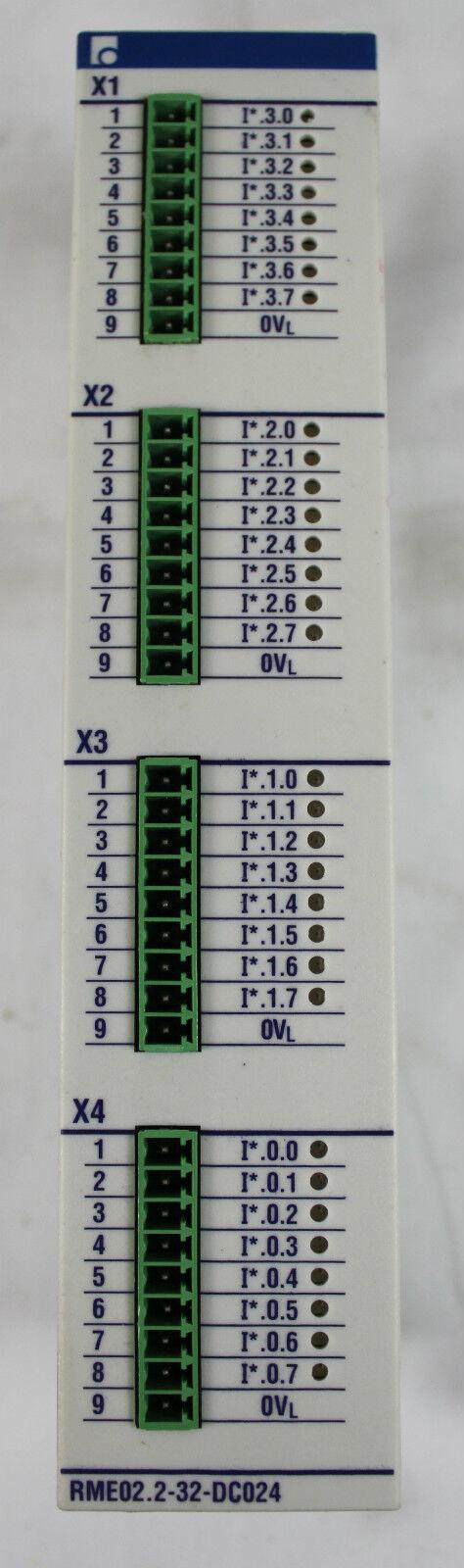 Indramat RECO RME02.2-32-DC024 DC Input Module XLNT