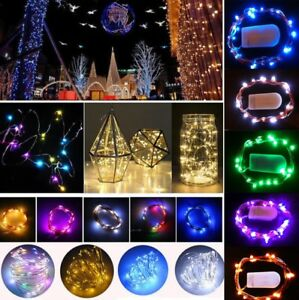 Micro Christmas Lights.Details About 10 20 30led Cell Battery Operated Micro Wire String Fairy Lights Party Xmas Usa
