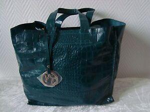 3ee52444dc Sac vert imitation croco | eBay