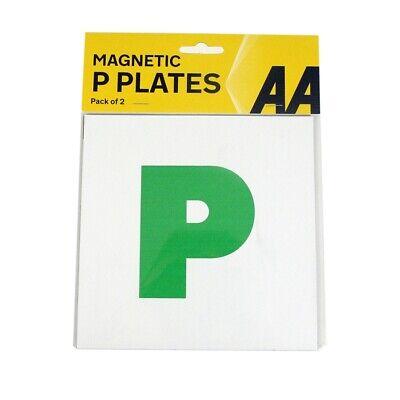 Un Pacco Di 2 P Plate Nuovo Driver Magnetico Coppia Verde Appena Passato Auto Va