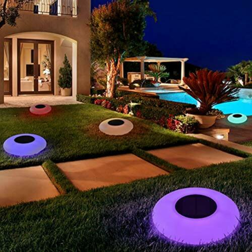 Swimming Pool Lights Solar Floating Multi-Color LED Waterproof Outdoor Garden