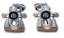 RECHTS für RENAULT SCENIC MEGANE OHNE PFAND 2 X Bremssattel HINTEN LINKS