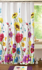 Floral Prisma Bathroom Shower Curtain Colorful Garden Spring Flowers Bath Decor