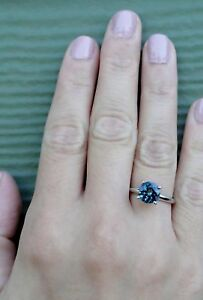 1-00-Ct-Blue-Round-Diamond-14k-White-Gold-Over-Solitaire-Engagement-Wedding-Ring