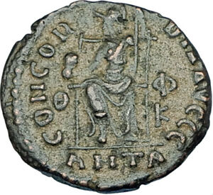 GRATIAN-Original-378AD-Antioch-Authentic-Ancient-Roman-Coin-Rome-as-Roma-i65887
