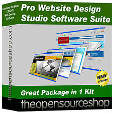 Pack Pro Software de diseñador web: crear y editar su propio sitio web & páginas web