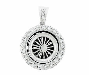 925 sterling silver spinning car tire rim spinner wheel large image is loading 925 sterling silver spinning car tire rim spinner mozeypictures Images