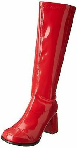 Ellie Gogo-Red Dancer Club Retro Cherry Cherry Cherry Zip Up Costume Punk Boots 3  Heels shoes 6175d9