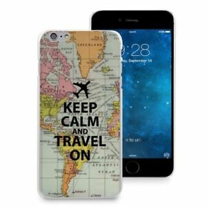 Iphone 6 World Map Case.Keep Calm Travel On World Map Case Thin Cover For Iphone 6 6s Plus 5