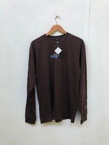 Hurley-x-Nike-Men-039-s-Graphic-Logo-LS-T-Shirt-Large-Dark-Brown-New