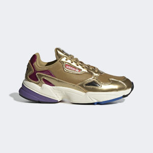 Details about New Adidas Original Womens FALCON GOLD METALLIC /OFF WHITE CG6247 US W 5-8 TAKSE