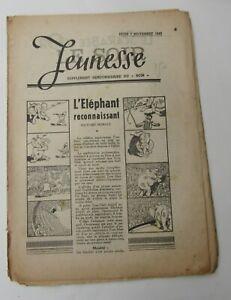 LE-SOIR-JEUNESSE-HEBDO-7-NOVEMBRE-1940-MAUVAIS-ETAT
