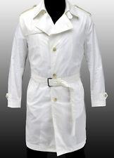 NEW HUGO BOSS Selection White Spring Summer Trench Coat Jacket Veste 40R 50 M
