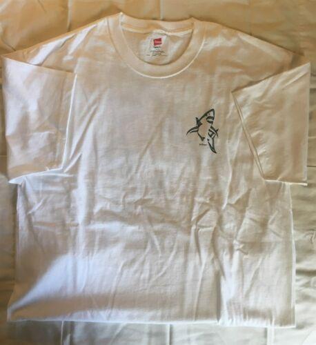 XL David Dunleavy Shark White Short Sleeve T-Shirt New